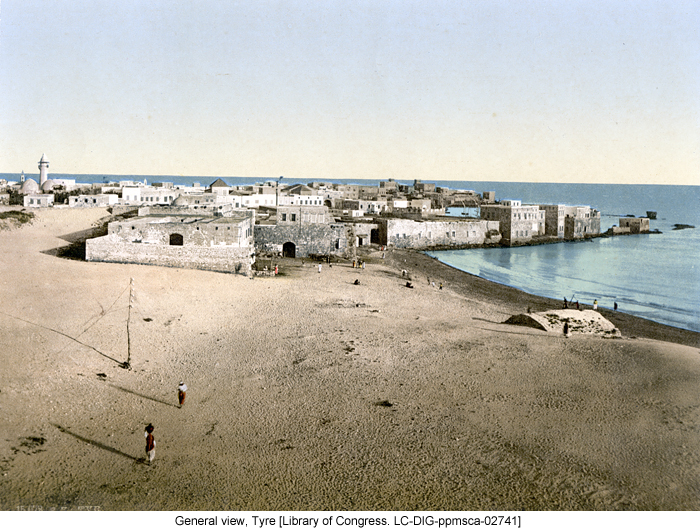 General view, Tyre [Library of Congress. LC-DIG-ppmsca-02741]